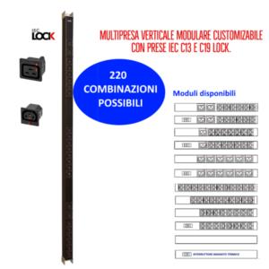 Multiprese Serie VDE Lock – con prese C13 anti-sgancio inter bloccate